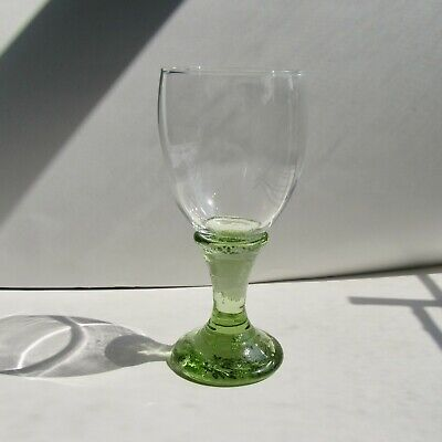 BRAND NEW OLIVE Goblet by Fire and Light Recycled Art Glass. SIGNED 1st Quality