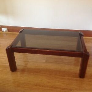 Solid Wood plus tinted glass top coffee table Northbridge Willoughby Area Preview