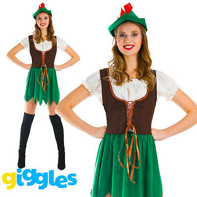 Womens Robin Hood Costume World Book Day Week Peter Pan Fairytale Fancy Dress](Peter Pan Female Costume)