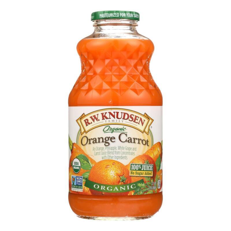 R.W. Knudsen - Organic Juice - Orange Carrot - Case of 6 - 32 fl oz