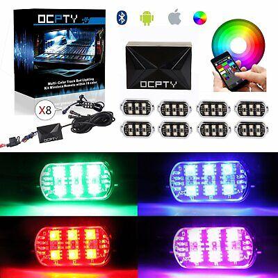 18 Color Car Truck Underglow Neon LED Rock Light LED Pod APP Remote Control-Qty8