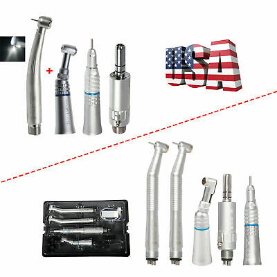 Nsk Style Dental Led High Fast Turbine Low Speed Handpiece Kit 42 Holes Usps