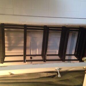 Heavy duty black storage shelf