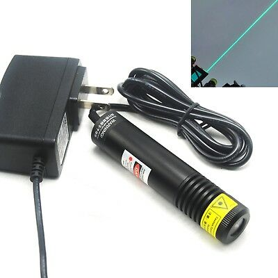 515nm 30mw Line Green Laser Diode Module K9 Glass Lens 12v Adapter Locator Sight