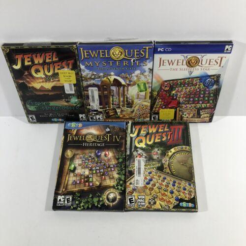 Computer Games - Lot Of 5 Jewel Quest PC Computer Puzzle Games