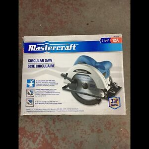 Scie circulaire Mastercraft, 12 A, 7 1/4 po: Neuf
