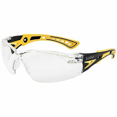 Bolle Rush Small Safety Glasses With Clear Anti-fog Lens Yellowblack Temples
