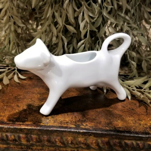 New Vintage CORDON BLUE Contemporary White Ceramic Cow Creamer