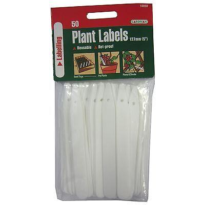 Gardman PLANT LABELS 127mm 2x50Pcs, Rot Proof, Pointed & Holed Edges *UK -