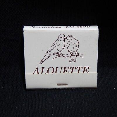 ALOOUETTE HIGHWOOD, IL. MATCHBOOK UNUSED  (#61)