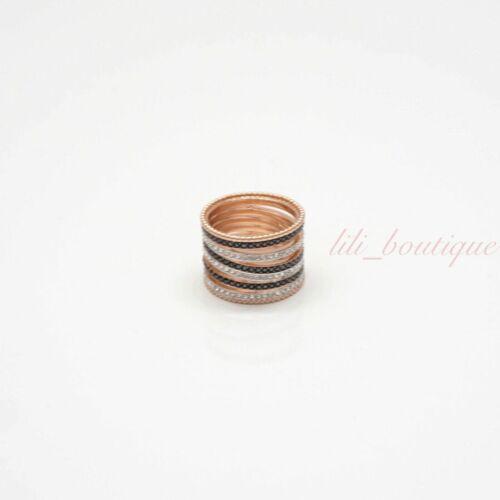 NIB Swarovski 5390913 Lollypop Ring Crystal Black Clear Rose Gold Plated Size 55
