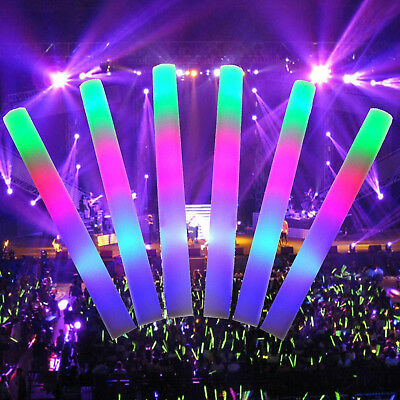 200 PCS Light Up Foam Sticks LED Wands Rally Rave Batons DJ Flashing Glow Stick - Glow Wands Wholesale