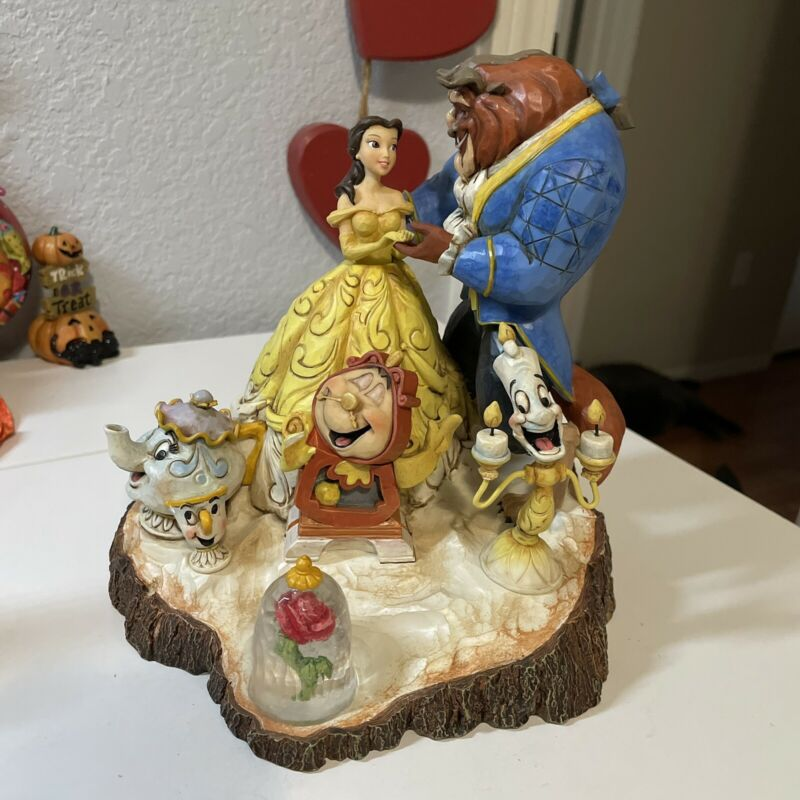 jim shore disney beauty and the beast tale as old as time Figurine