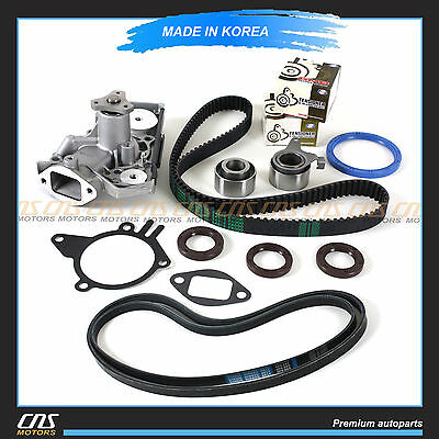 Timing Belt w/ V-Belt Tensioner Water Pump Kit Fits Kia Rio 1.5L 1.6L A5D A6D