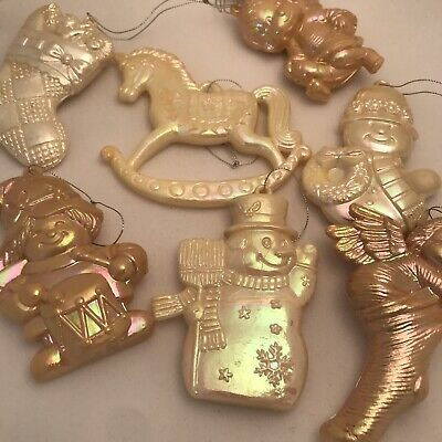 Vintage Christmas Tree Decorations Lustre Made Hong Kong