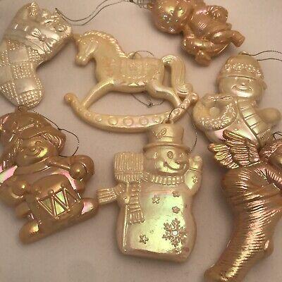 Vintage Christmas Tree Decorations Lustre Made Hong Kong