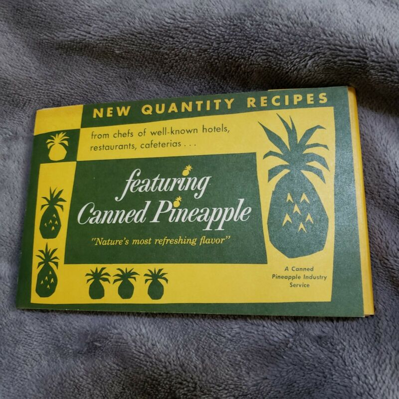 Vintage Canned Pineapple Industry Service Set of Recipe Cards in Folder