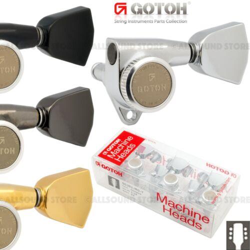 GOTOH SG301-MGT-04 Magnum Lock Locking Tuners 3x3 w Metal Keystone Buttons L3+R3