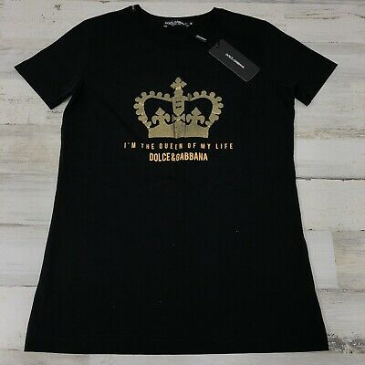 575$ Authentic SS19 Women's Dolce & Gabbana Graphic Sparkles Tee Shirt