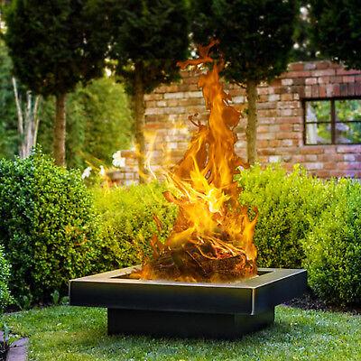 Feuerschale mit Deckel 80cm Feuerkorb Pflanzschale Grillschale Grill Lagerfeuer