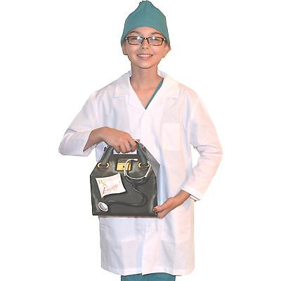 Kids Doctor Costume with REAL Lab Coat and Scrubs Cap, includes Doctor Bag](Costumes With Lab Coats)