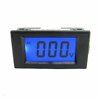 Us Stock Blue Lcd Digital Volt Panel Meter Voltmeter Ac 0600v 4 Wire