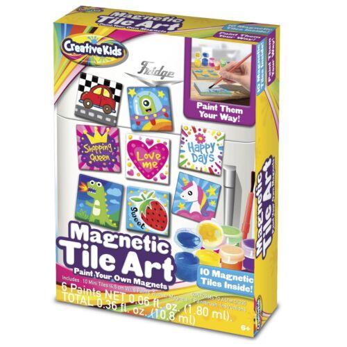 Creative Kids Fridge Tile Art – Make Your Own Magnetic Tile Art Set for Kids