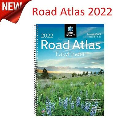 Mcnally USA Road Atlas 2022 Best United States Travel Maps Easy Finder Midsize