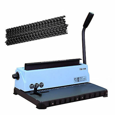 34-hole Steel Metal Spiral Coil Punching Binding Machine Comb Punch Binder Paper