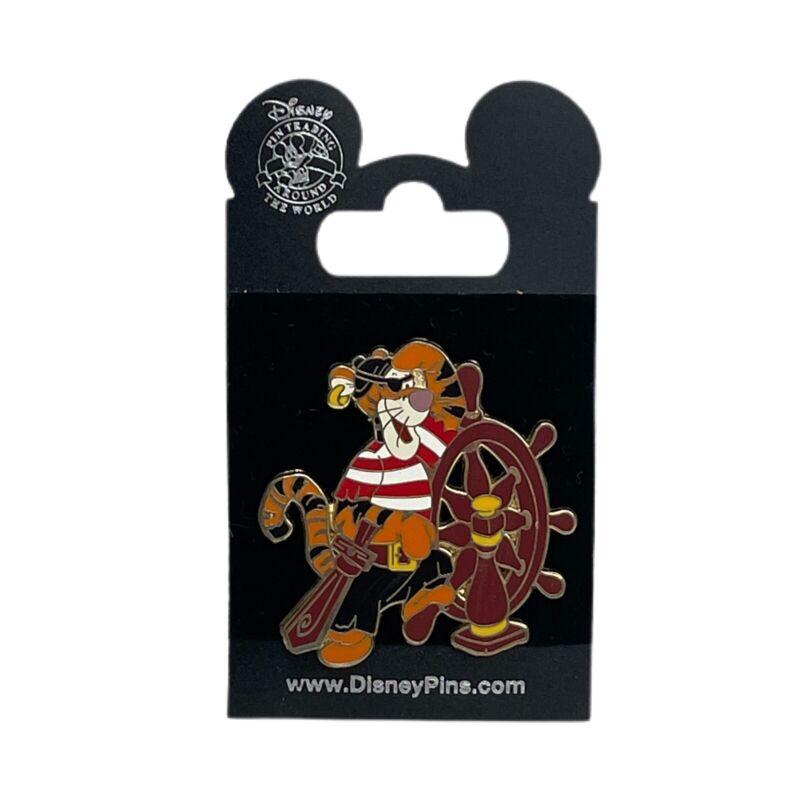 Disney Pin 53974 Tigger Pirate Ship Wheel Sword Eye Patch 2007 On Card