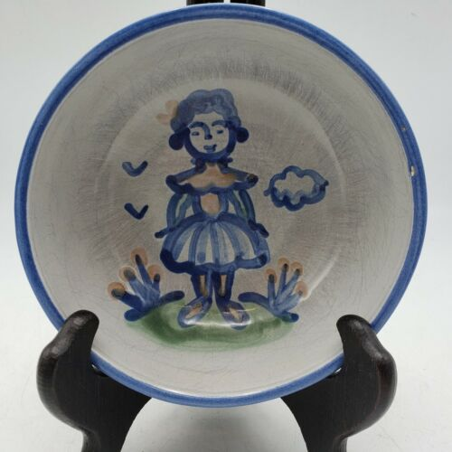 """M.A. Hadley Cereal Bowl w/ Girl ~ 5 1/4"""" Diameter"""