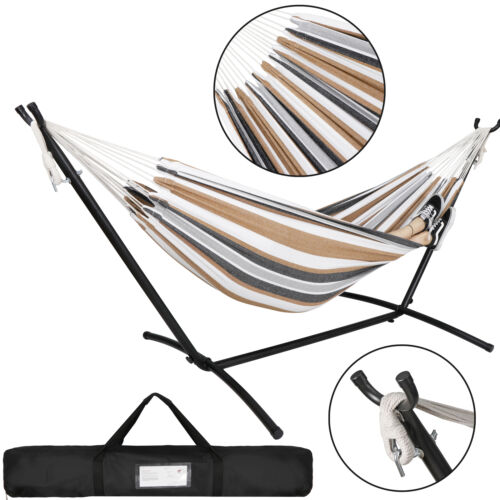 Double Hammock W/ Portable Carrying Bag Swing Includes Space