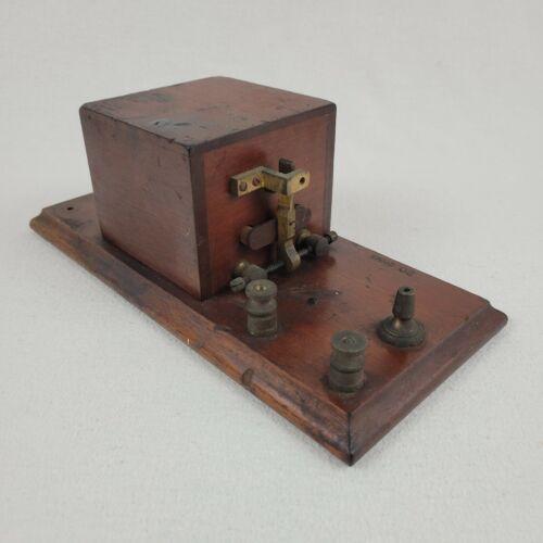 Antique Original JH Bunnell Morse Telegraph Box Relay 1880s Sounder Sound Box
