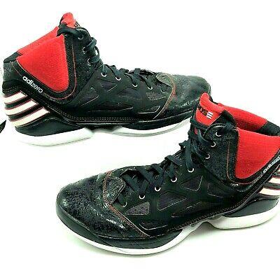 Adidas Mens Shoes Adizero Rose Hi Top Basketball Black Red Sneakers G48837