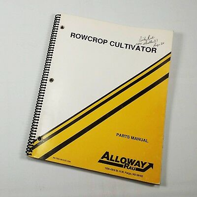 Alloway Rau Rowcrop Cultivator Parts Manual 11994 G-gy