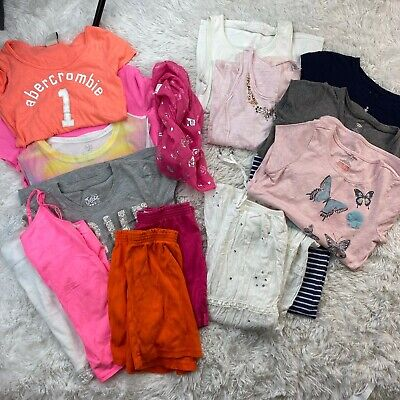 Lot of girls clothes size 10/12 Justice Abercrombie T Shirts 15 Pieces
