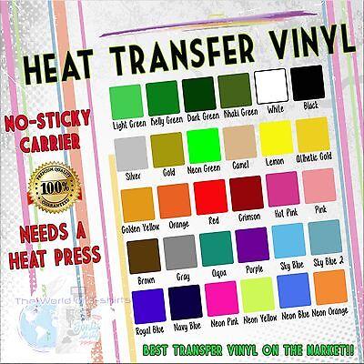 "Heat Transfer Vinyl  PVC  Roll HTV 20 "" wide 1ft - 1Y - 5ft- 3Y- 5Y- 10Y - 25Y"