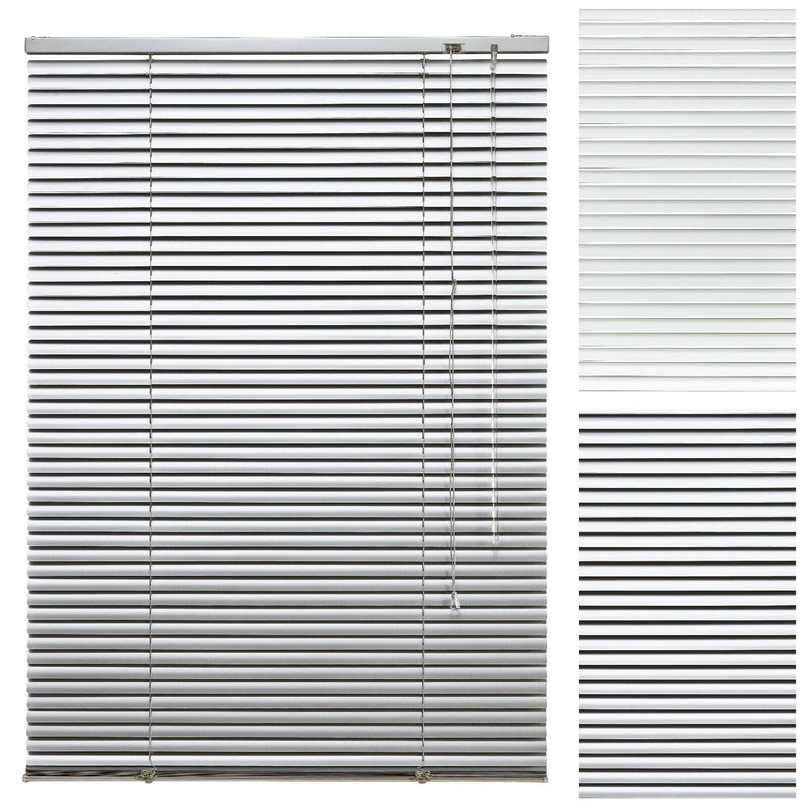 Alu Jalousie Aluminium Jalousette Tür Fenster Rollo Vorhang Lamellen Weiß Silber