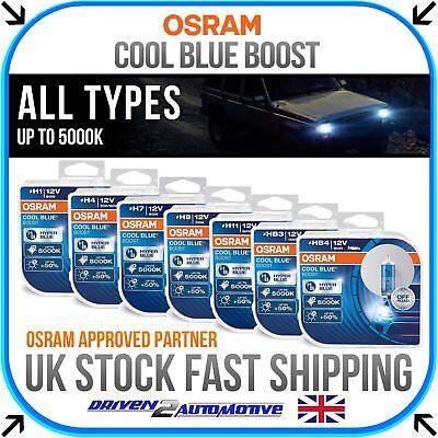 OSRAM Cool Blue Boost All Bulbs 5000K UPGRADE H1 H4 H7 H9 H11 HB3 HB4