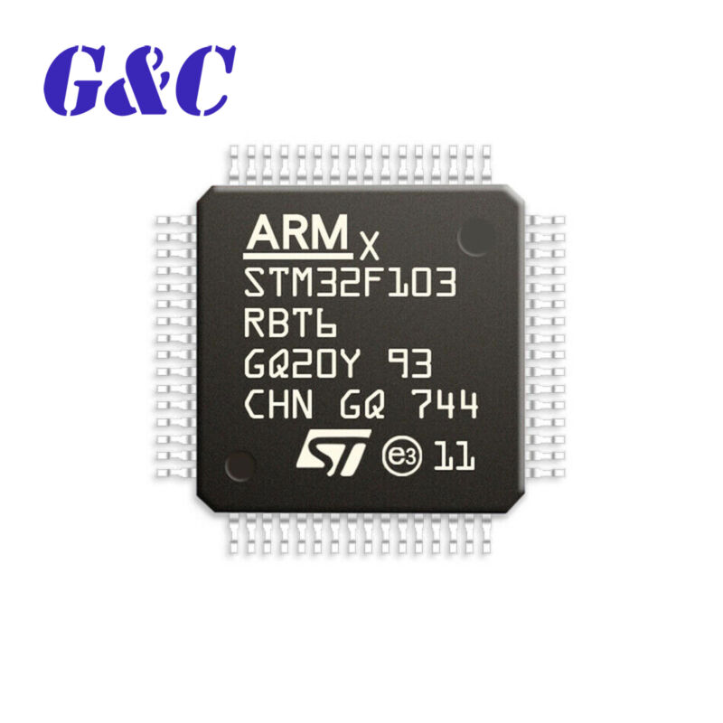 STM32F103RBT6 STM32F103 LQFP64 128K Cortex Flash 32-bit Microcontroller chip IC