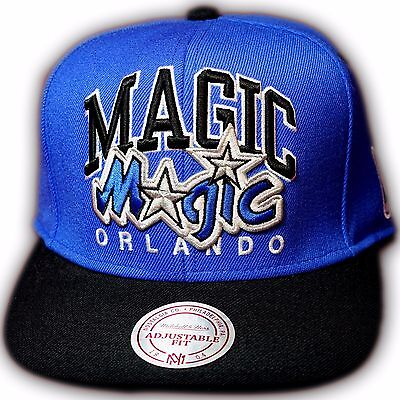 Original Mitchell & Ness Orlando Magic NBA Snapback Cap EU085 Royal/Schwarz Orlando Magic Snap