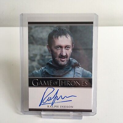 Game of Thrones Ralph Ineson Dagmer Cleftjaw Autograph Trading Card Season 2