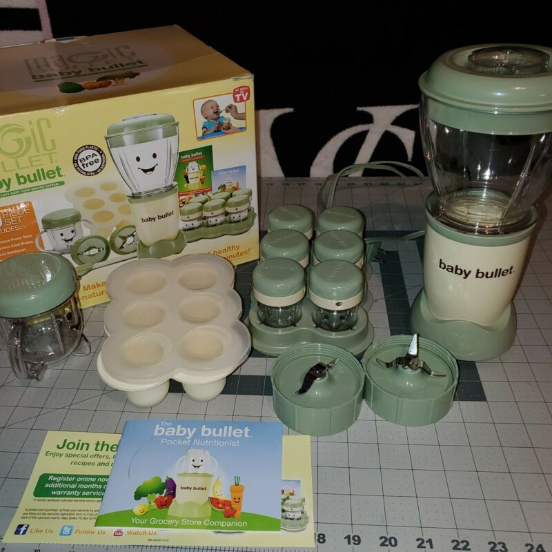 Magic Bullet Baby Bullet Piece Baby Food Making System. Excellent Condition