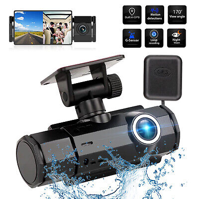 GPS 1080P HD Dual Lens Car DVR Camera Vehicle Dash Cam Video Recorder G-sensor