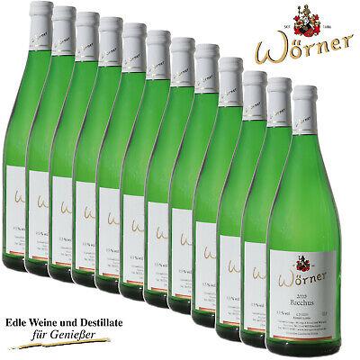 (4,17€/l) 12x1L Bacchus lieblich WEINGUT WÖRNER - Weißwein Wein aus der Pfalz