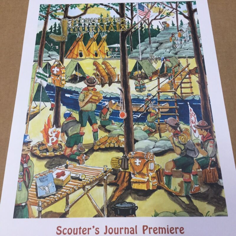 Boy Scout Poster Signed Scouter