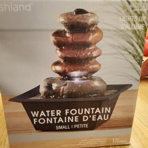 Zen Stacked Rocks Light-up Small Fountain By Ashland Office Indoor Home Decor - $16.50