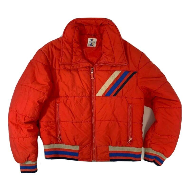 Vintage Number 1 Sun Size XL 70s Ski Jacket Coat Retro Stripes See Measurements
