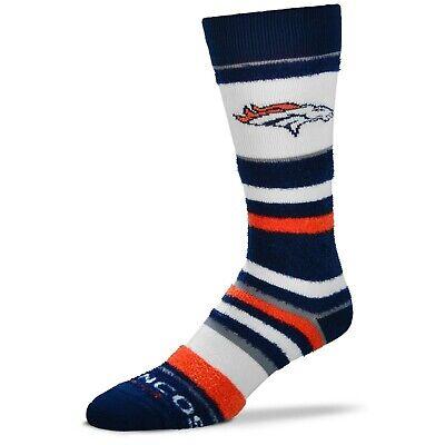 Denver Broncos Womens Socks (Denver Broncos For Bare Feet Women's and Youth Soft Stripe Crew-Length Socks )