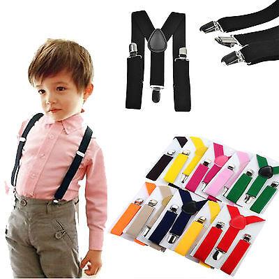 Boys Girls Kids Child Baby Children Clip on Y Back Elastic Suspenders US SELLER](Back Boys)